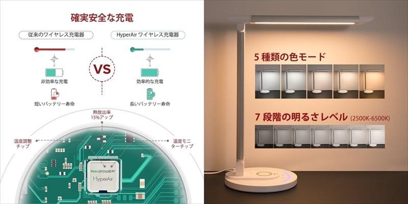 iPhone 急速ワイヤレス充電機能搭載 LEDデスクライト TT-DL043