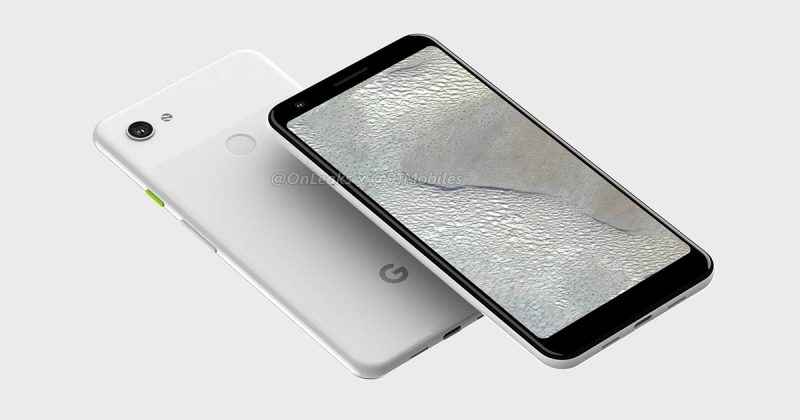 Google Pixel 3a XLリーク画像(Clearly White)