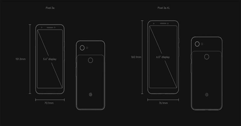 Google Pixel 3aとPixel 3a XLの特徴とスペックに関して