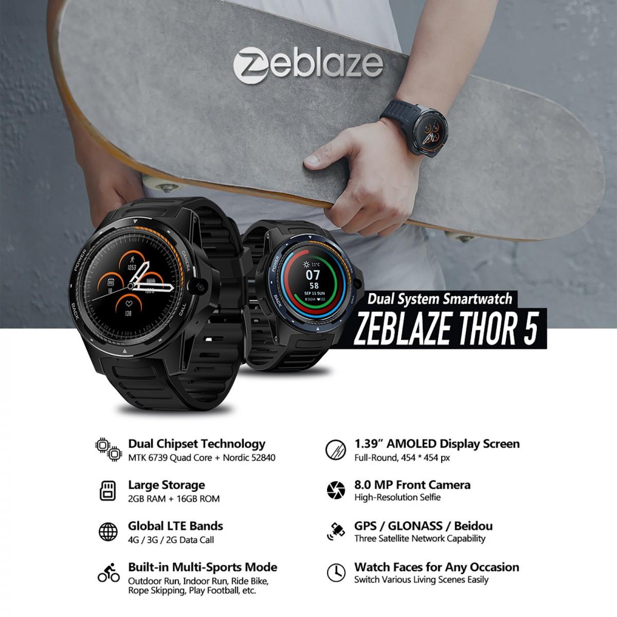 Zeblaze THOR5のスペックを紹介