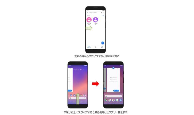 GalaxyS9 docomo Android10 ジェスチャーナビゲーション